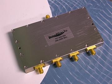 Power Divider, 4 Way, 50 Ohm, 500-2000 MHz, 5 Watts, SMA female