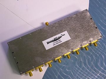 Power Divider, 8 Way, 50 Ohm, 500-2000 MHz, 5 Watts, SMA female