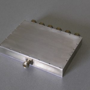 Power Divider, 6 Way, 50 Ohm, 800-2200 MHz, 5 Watts, N female