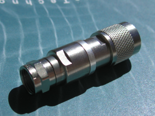 TNC Male 50 Ohm/ F Male 75 Ohm Impedance Matching Pads